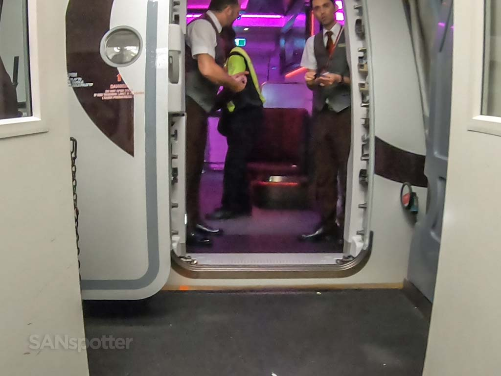 Virgin Atlantic A350 boarding door