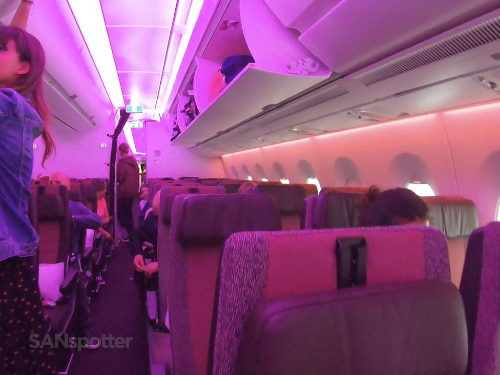Virgin Atlantic mood lighting