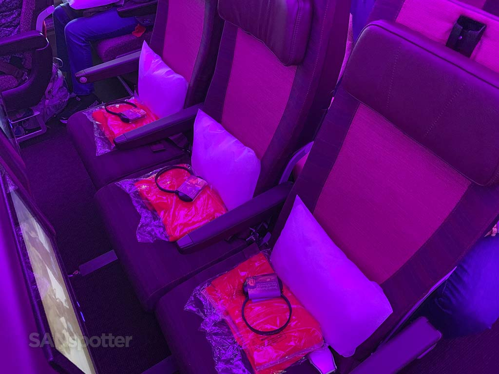 Virgin Atlantic A350 economy seats