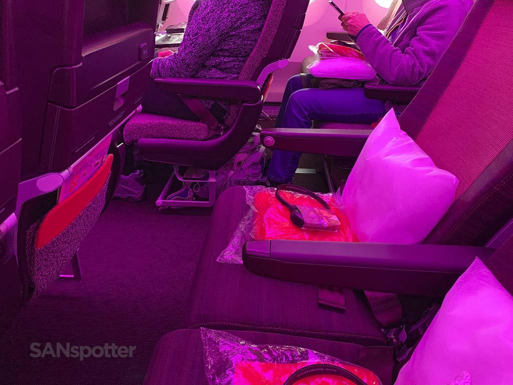Virgin Atlantic a350 economy class cabin