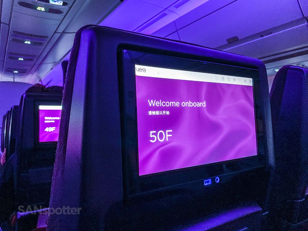 Virgin Atlantic a350 video screens