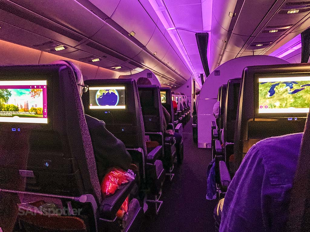 Virgin Atlantic A350-1000 cabin