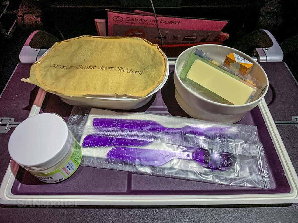 Virgin Atlantic economy meal