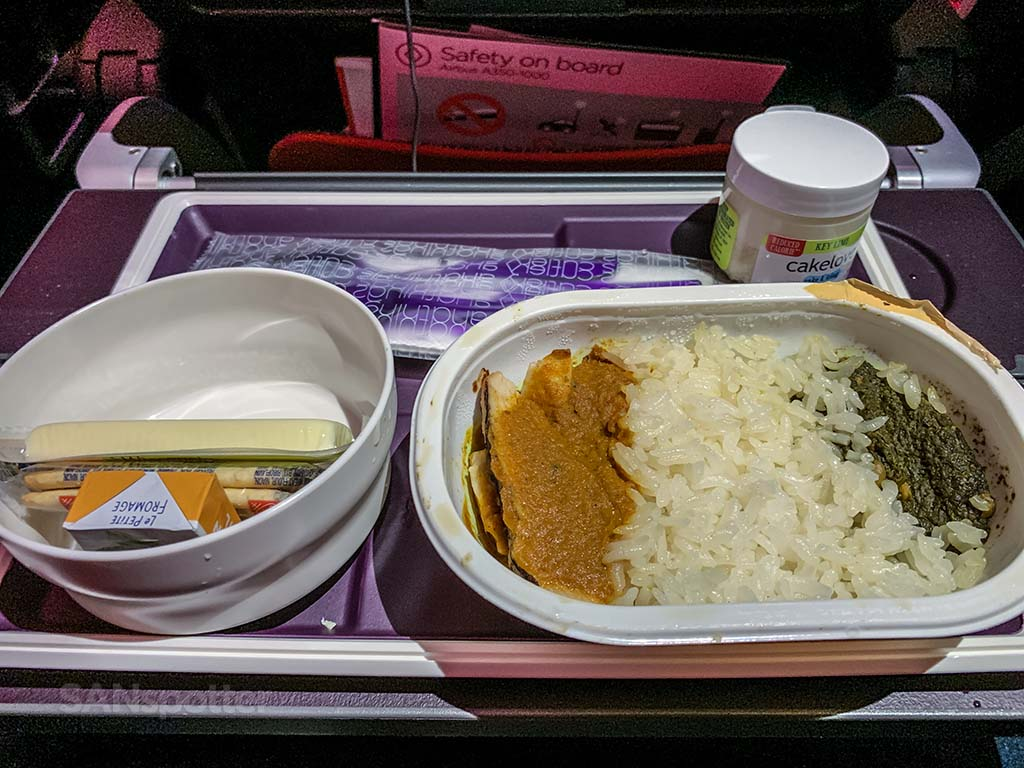 Virgin Atlantic economy meal review