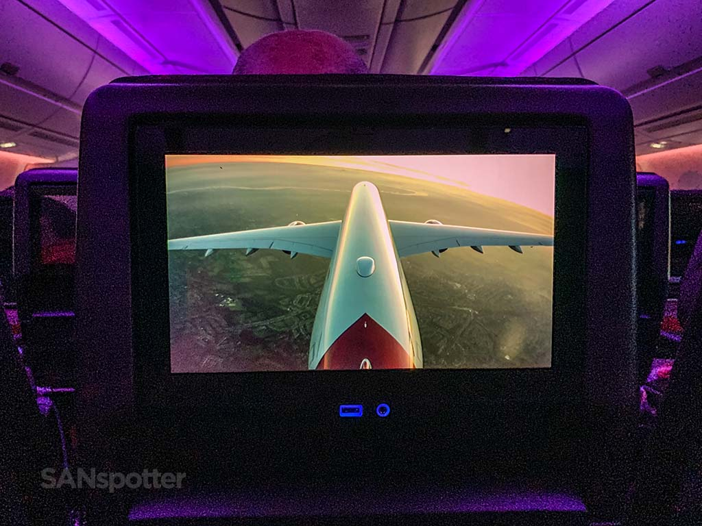 Virgin Atlantic a350 tail camera