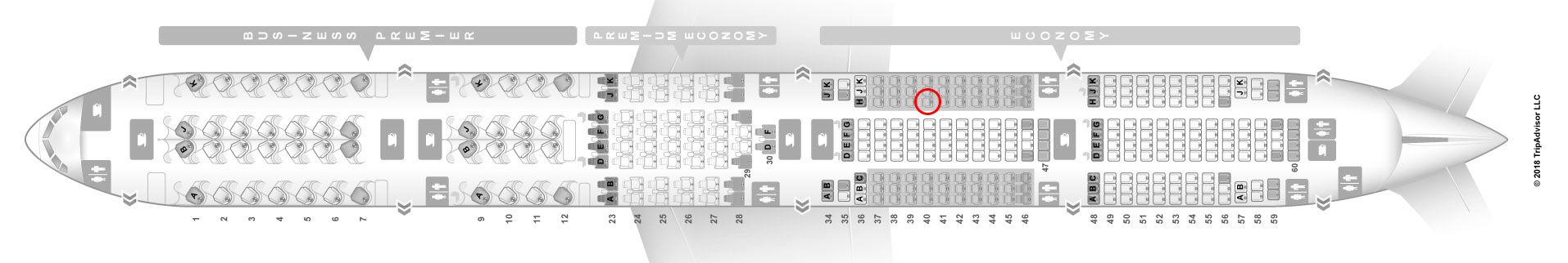 Air New Zealand 777-300er seat map