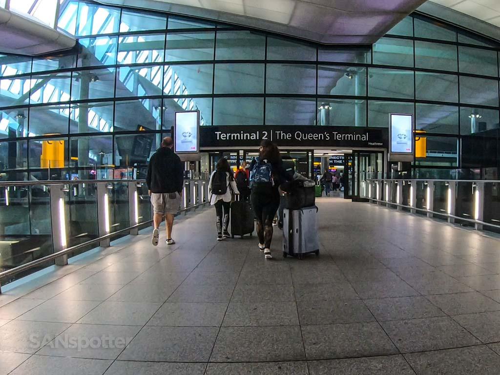 Terminal 2 LHR entrance