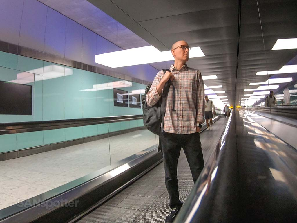 Sanspotter selfie LHR Terminal 2