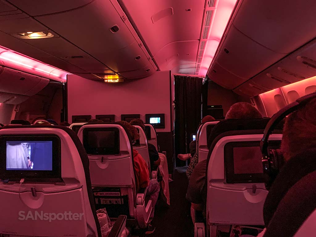 Air New Zealand mood lighting