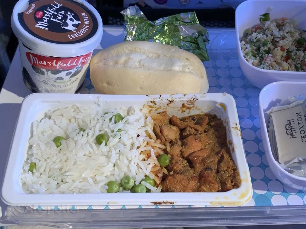 Air New Zealand economy food