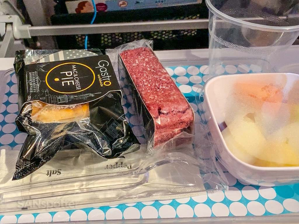 Air New Zealand food pic