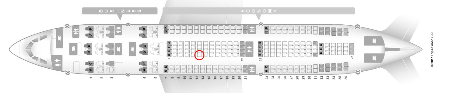 Avianca A330-200 seat map