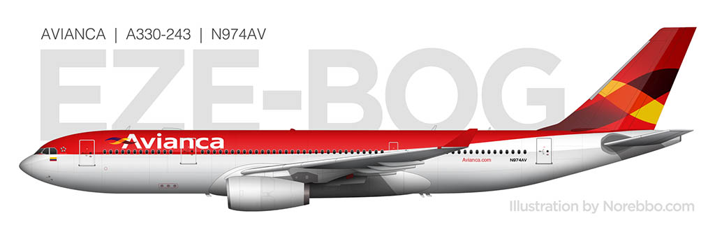 Avianca A330-200 side view