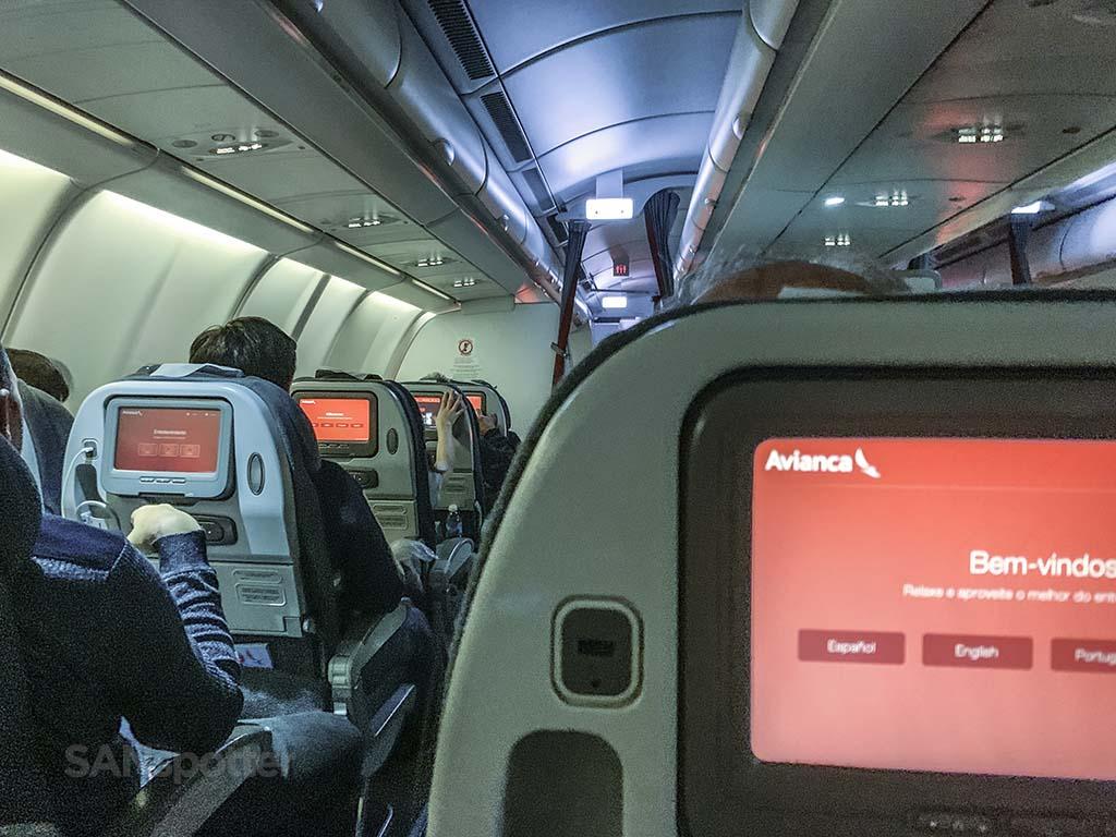 Avianca A330-200 seat 12D