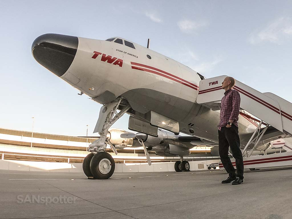Sanspotter selfie TWA constellation
