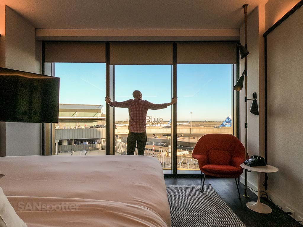 TWA hotel airport view