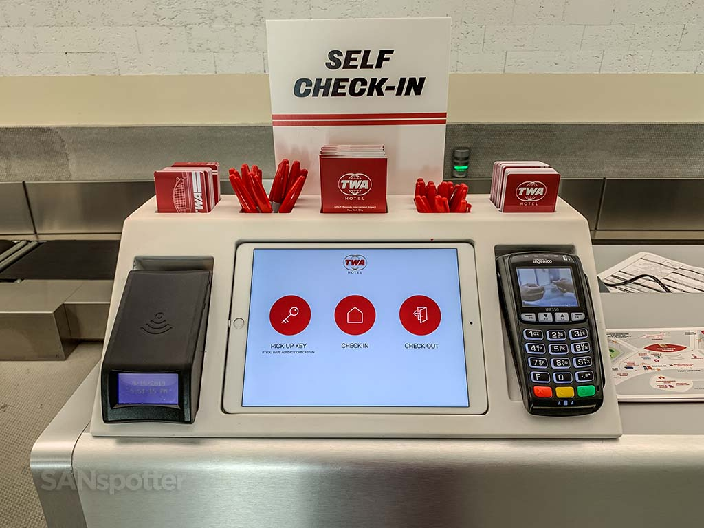 TWA self check in