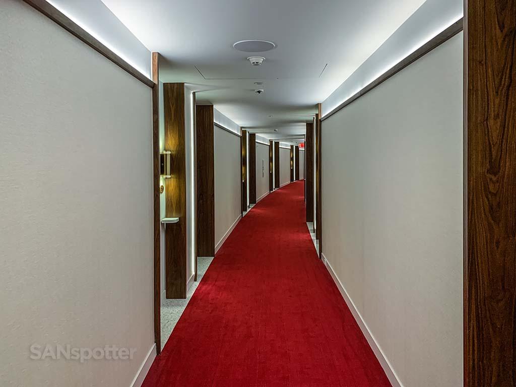TWA hotel hallway
