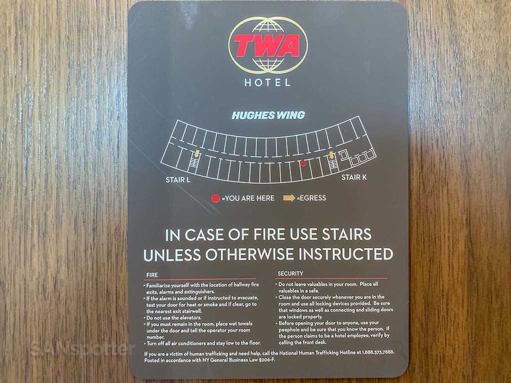 TWA hotel Hughes wing floor plan