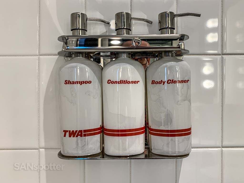 TWA-branded toiletries