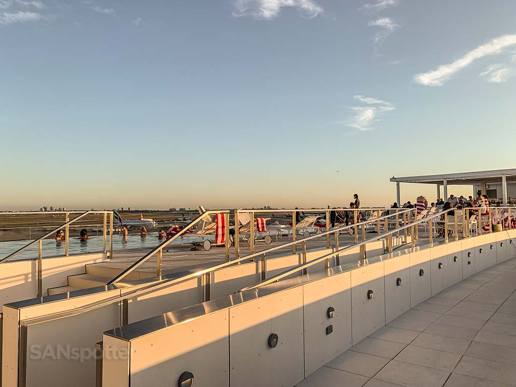 TWA hotel rooftop pool