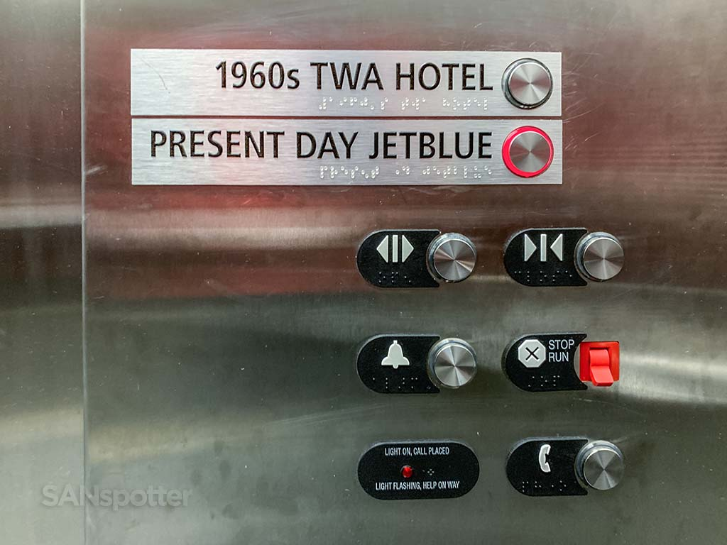 TWA hotel elevator buttons