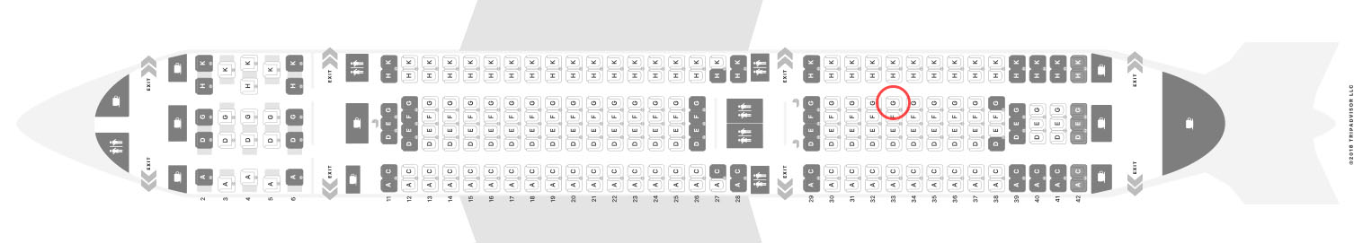Aer Lingus A330-200 seat map