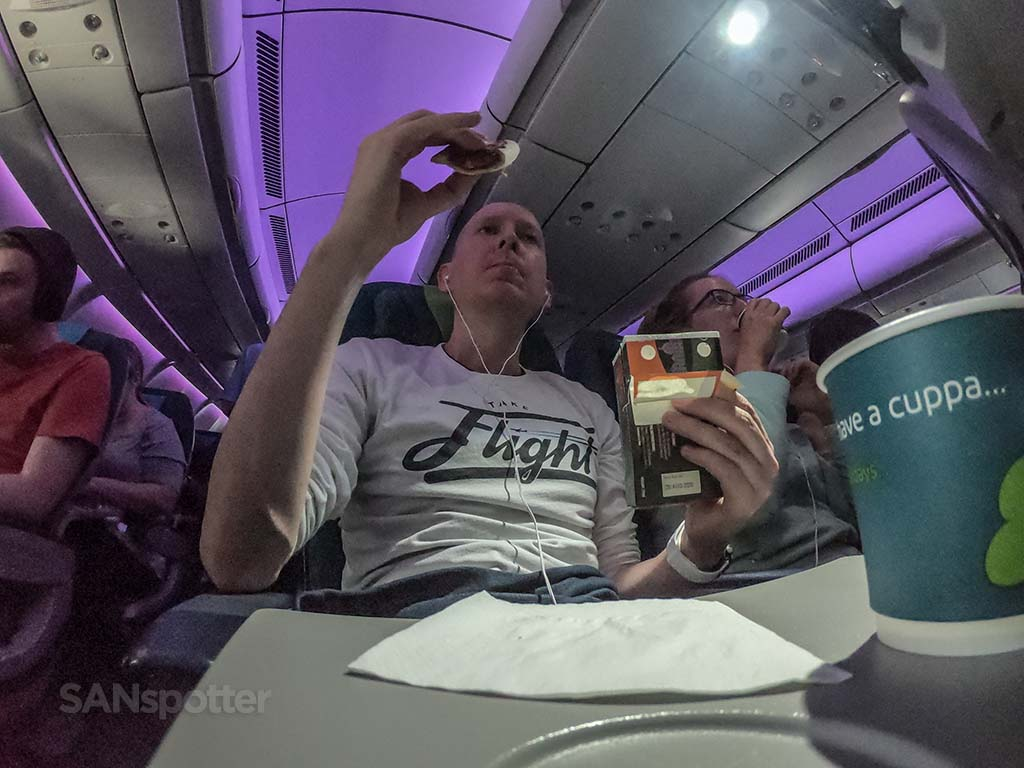 SANspotter selfie Aer Lingus economy