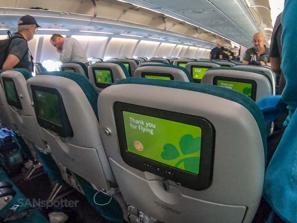 Aer Lingus economy experience