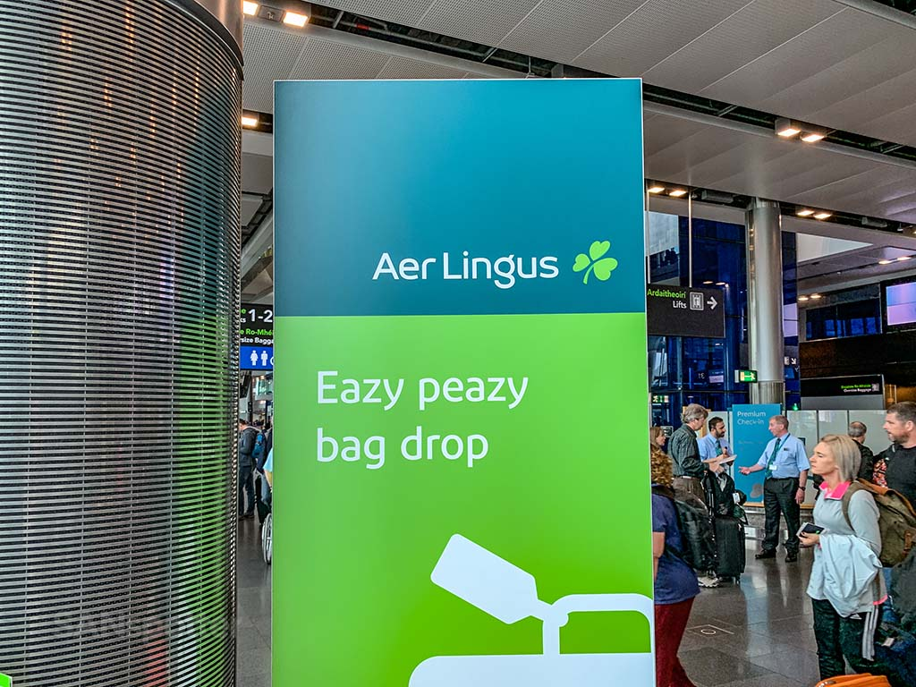 Aer Lingus bag drop Dublin Airport