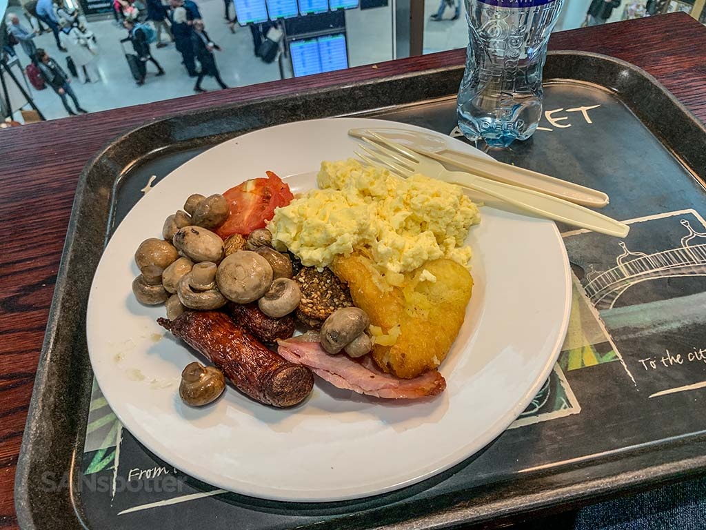 Full Irish breakfast Dublin Airport