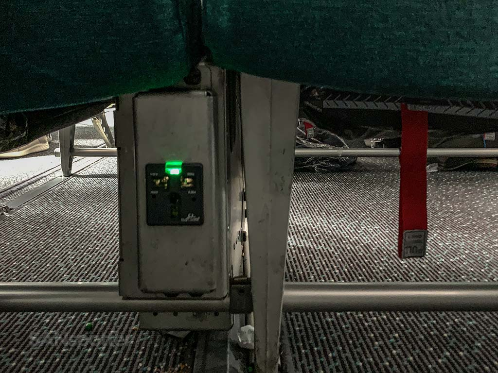 Aer Lingus electrical outlets