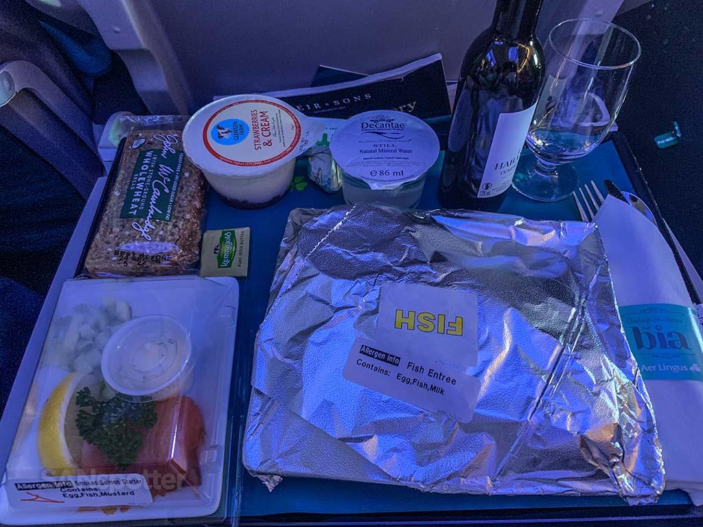 Aer Lingus premium meal