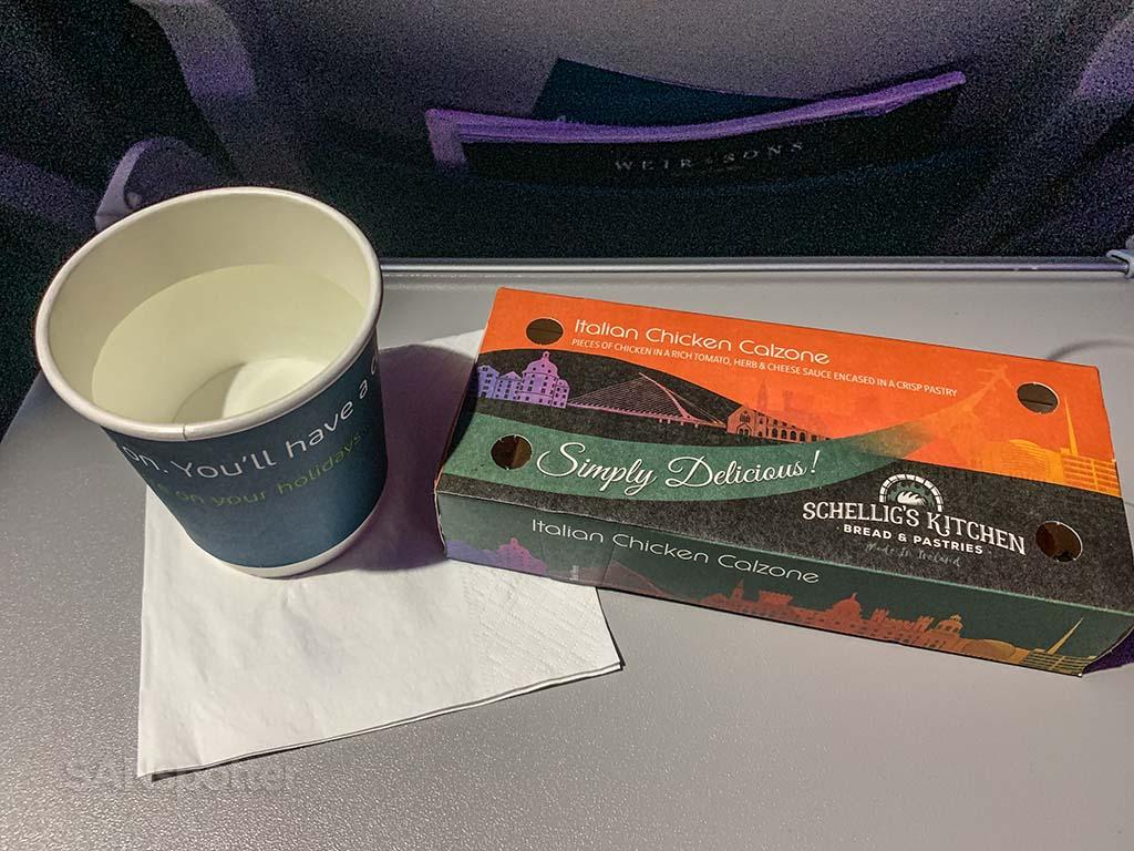 Aer Lingus pre landing snack