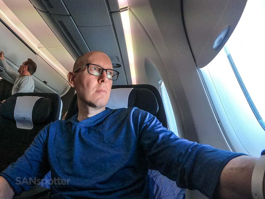 Sanspotter selfie British Airways