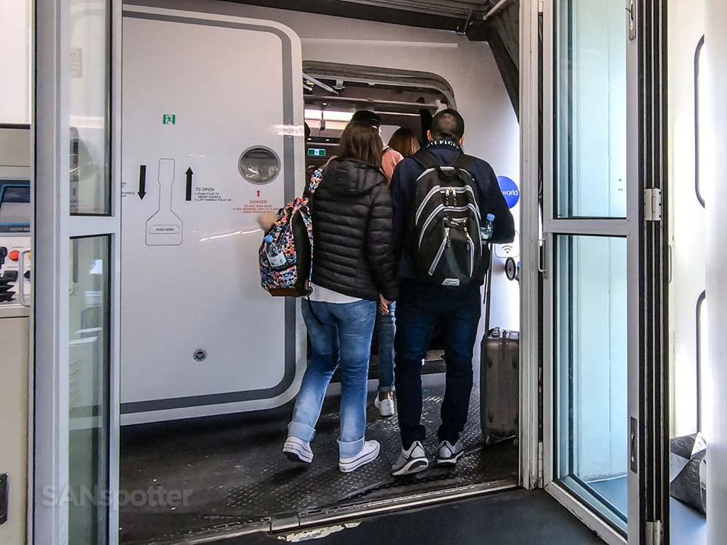 British Airways a350 boarding door