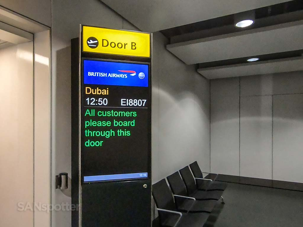 British Airways flight to Dubai