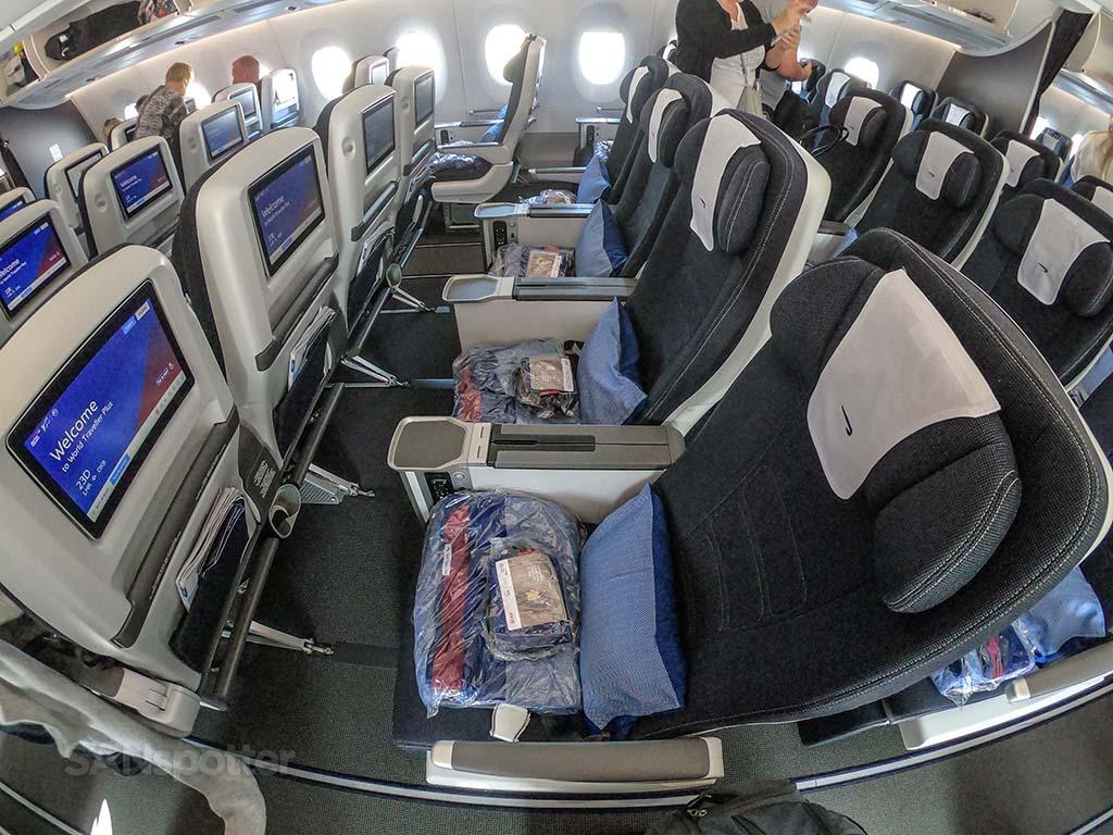British Airways premium economy seats