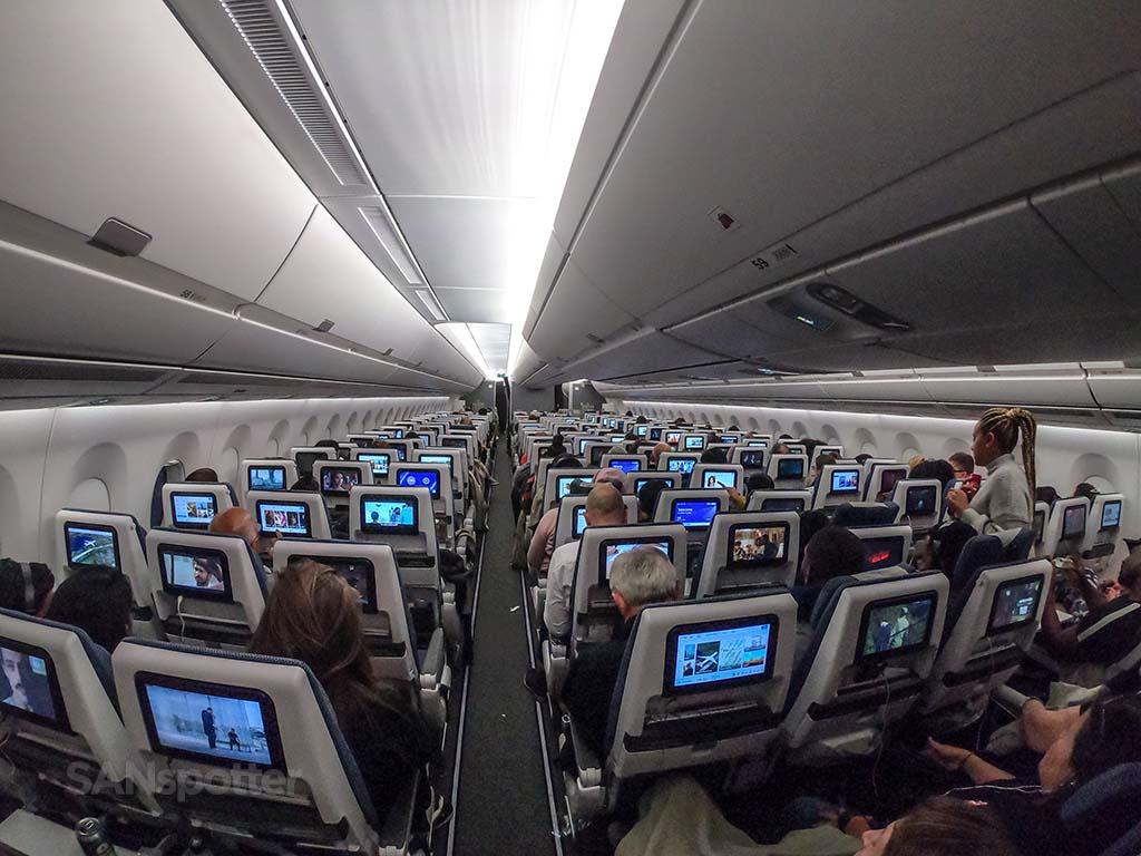 British Airways a350-1000 economy class cabin