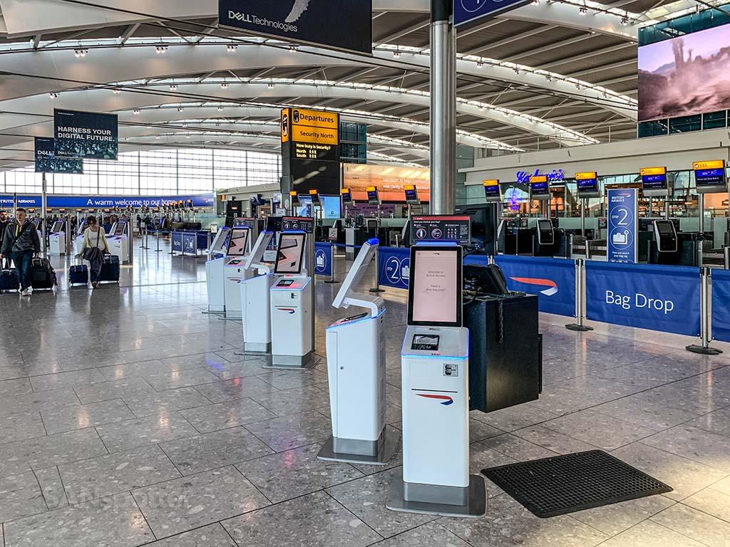 LHR Terminal 5 British Airways check in