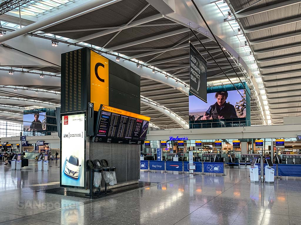 LHR T5 check in
