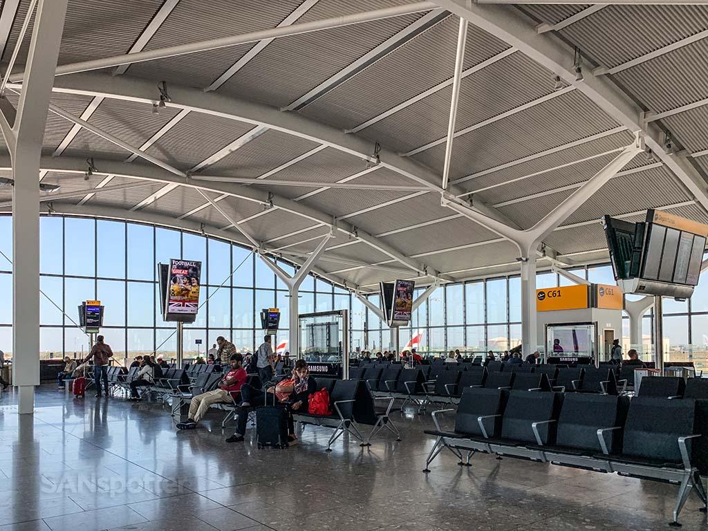 Gate c61 Heathrow airport