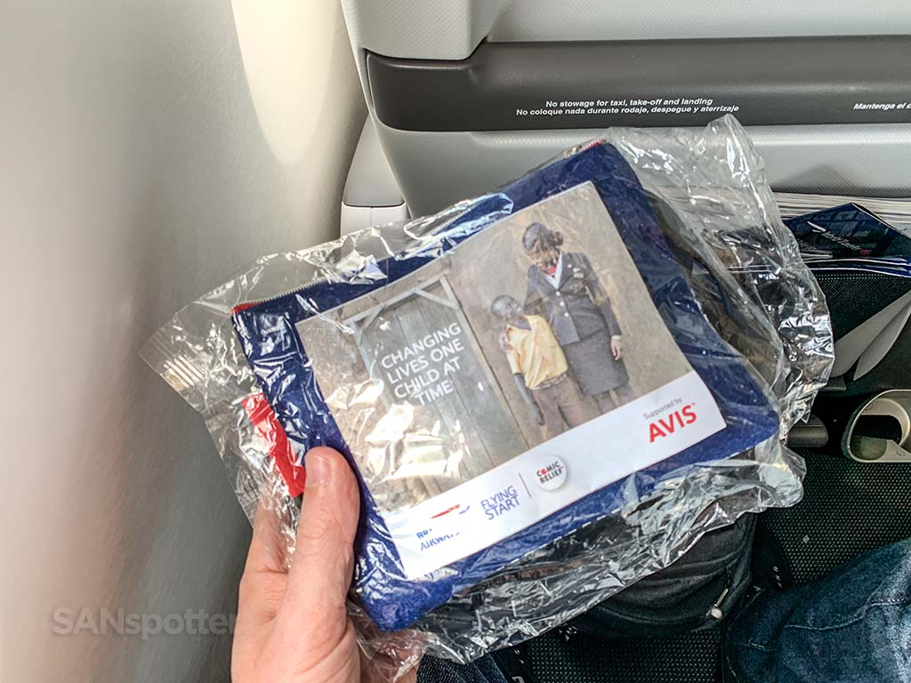 British Airways premium economy amenities