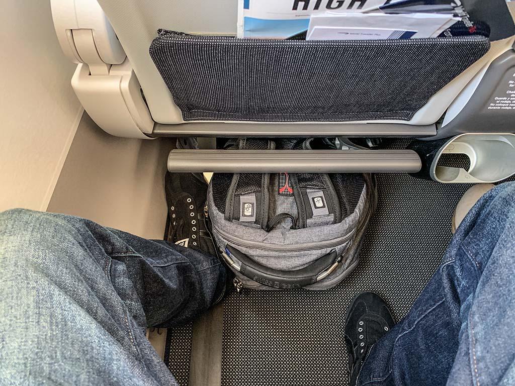 British Airways premium economy leg room