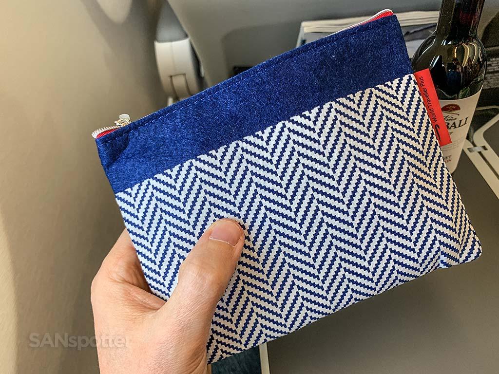 British Airways premium economy amenity kit