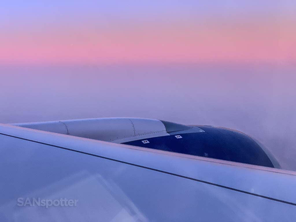 A350 wing sunset