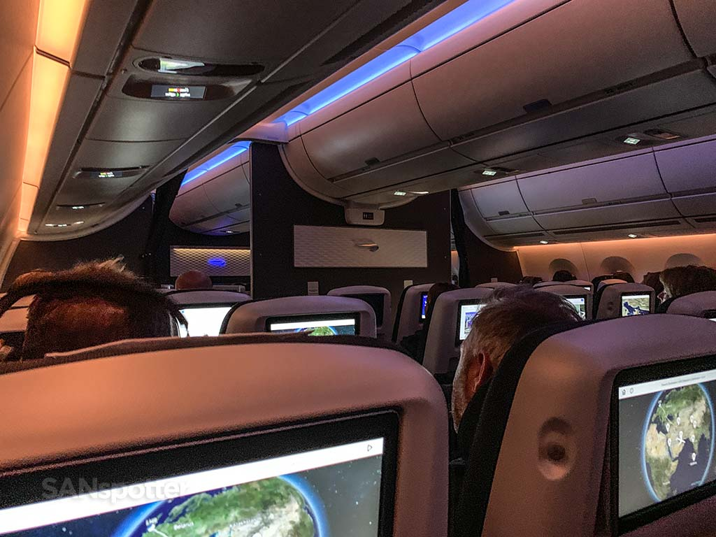British Airways world Traveler Plus cabin