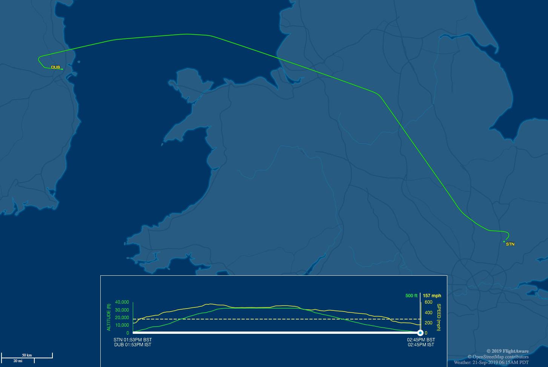 fr225 flight track