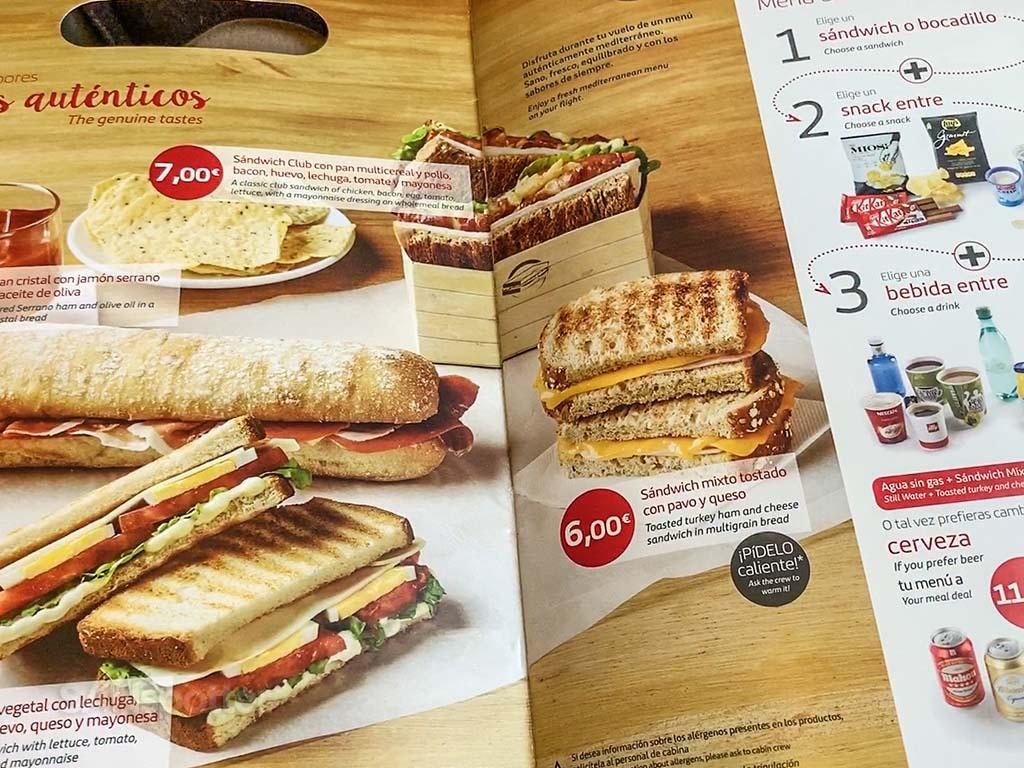 Iberia menu