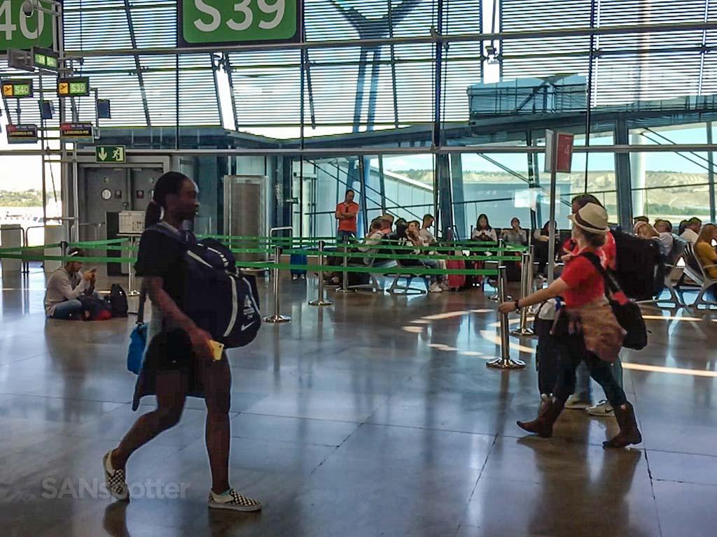 Madrid Barajas Airport gate
